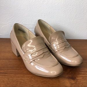 Chinese Laundry Cream Block Heels, 7.5
